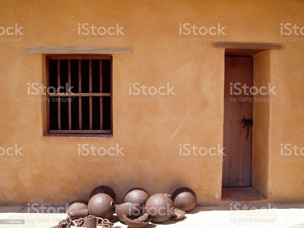 Bars, Balls and Door stock photo