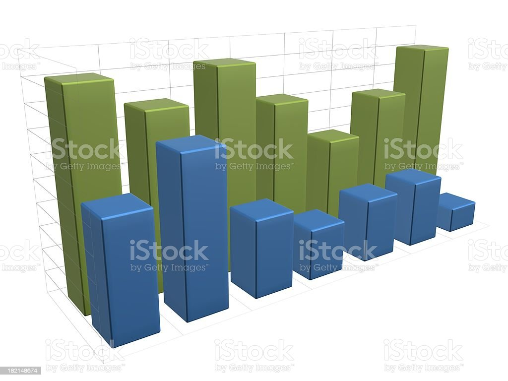 Bars chart royalty-free stock photo