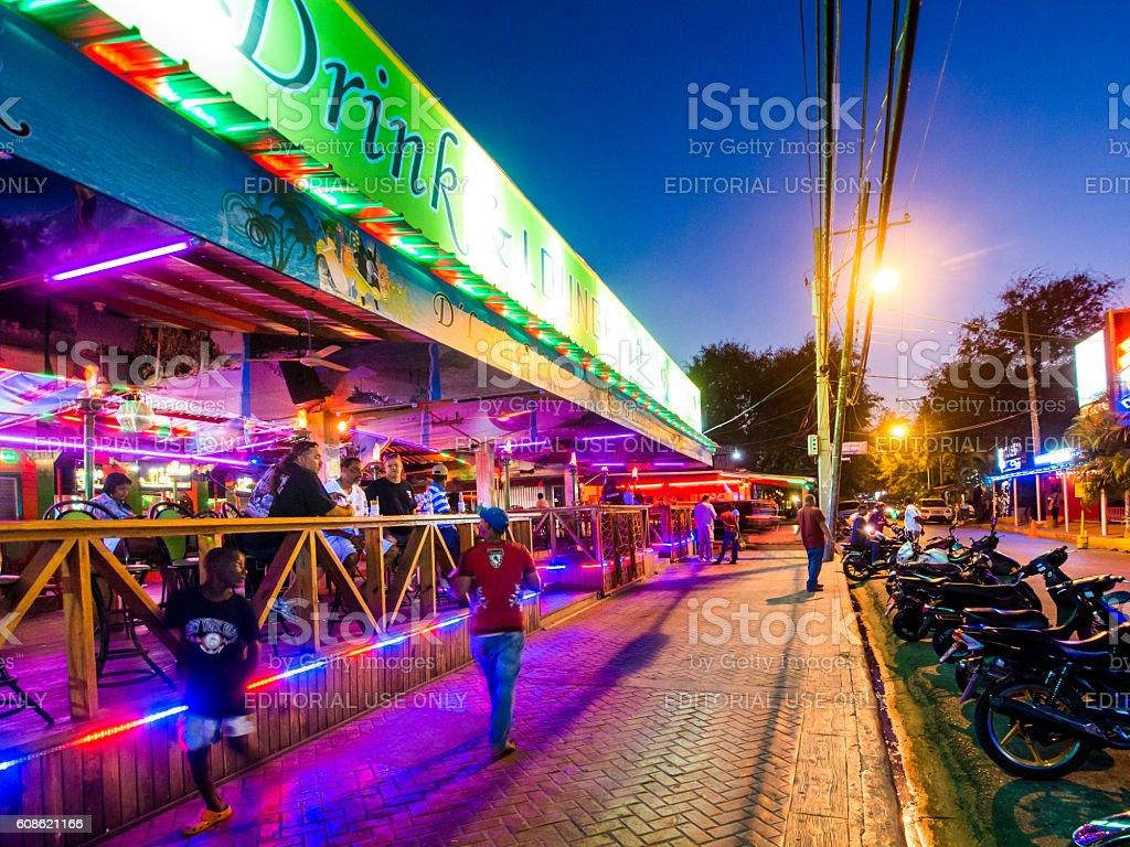 Bars in Sosua, Dominican Republic stock photo