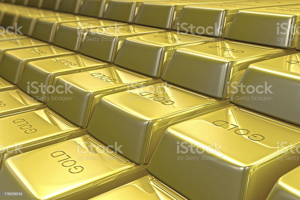 Bars of Gold stock photo