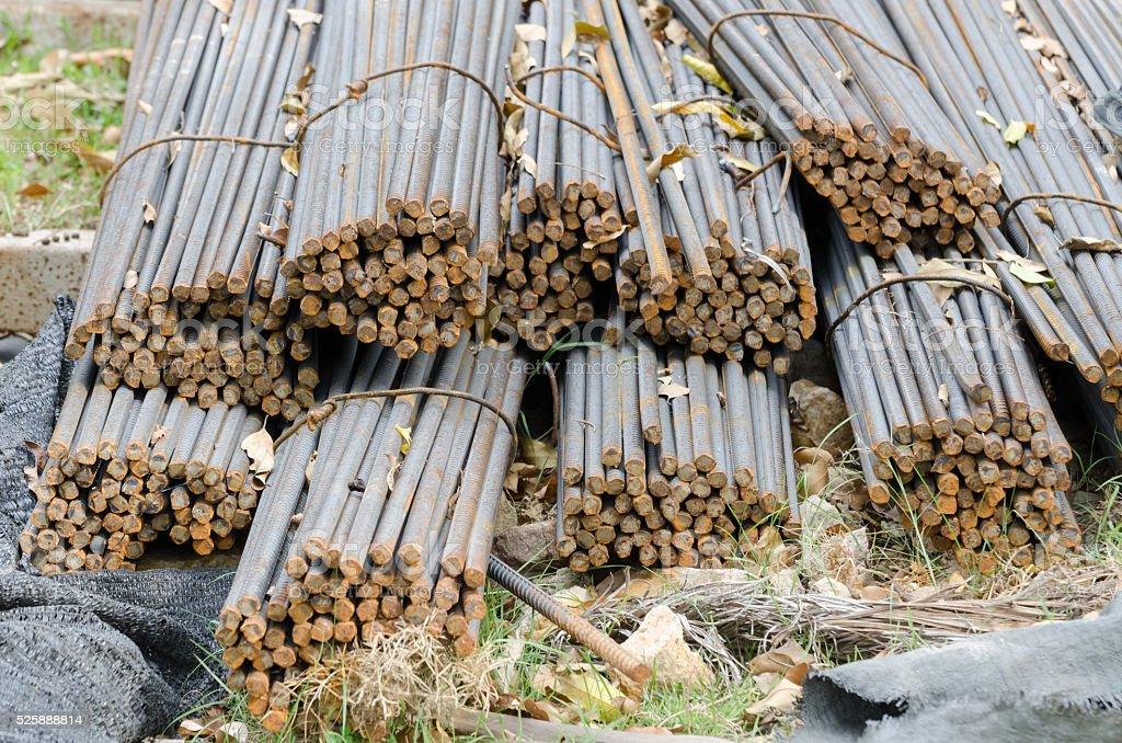 Bars of reinforced steel. stock photo