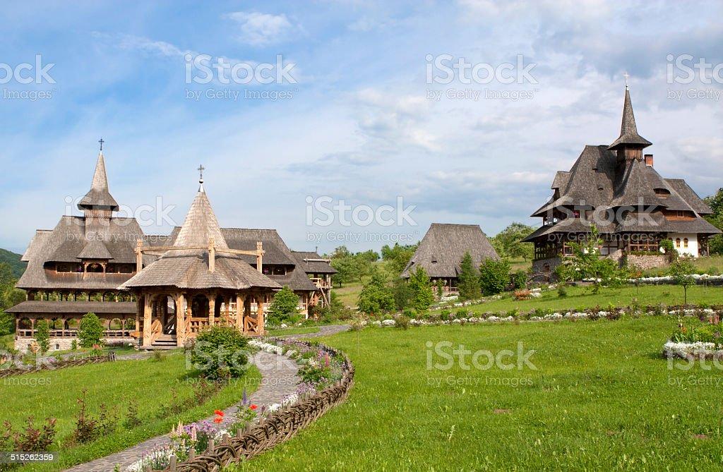 Barsana Monastery, Romania, Maramures stock photo