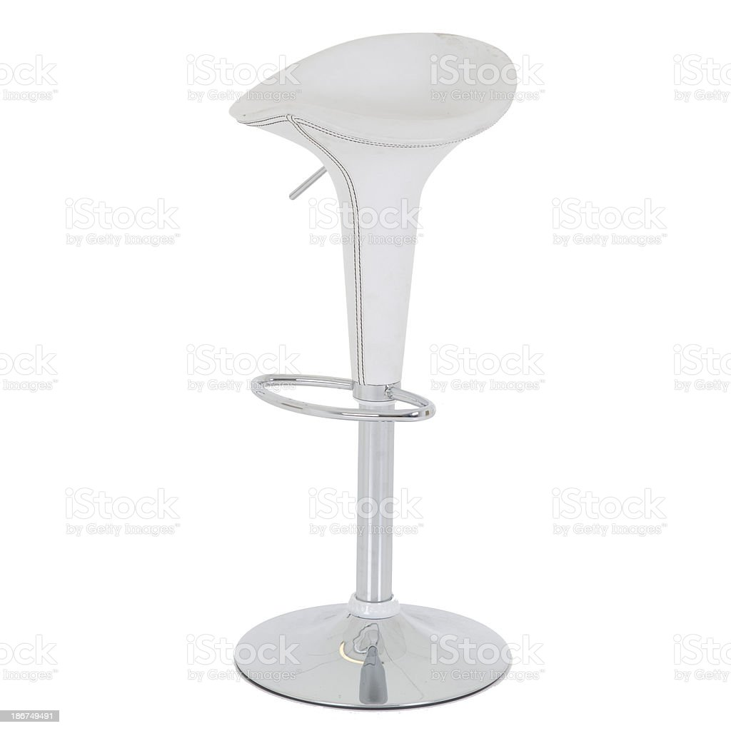 Barstool in plastic and crome royalty-free stock photo