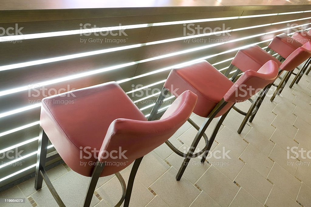 barstools in a raw royalty-free stock photo
