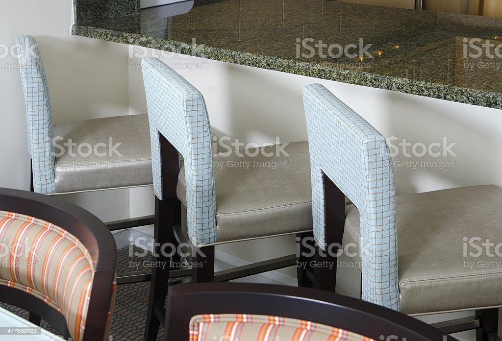 Barstools royalty-free stock photo