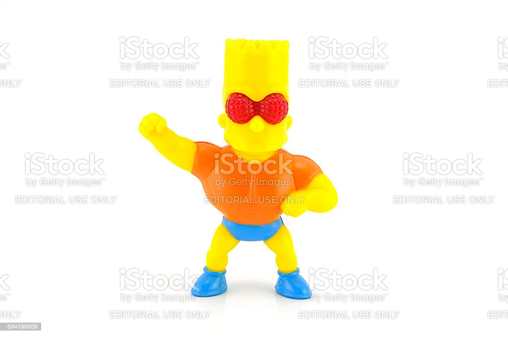 Bart Simpson figure toy character from The Simpsons family stock photo