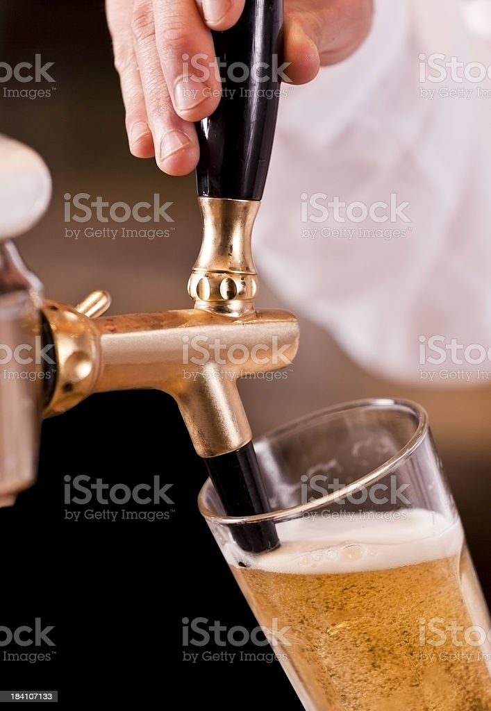 Bartender at work royalty-free stock photo