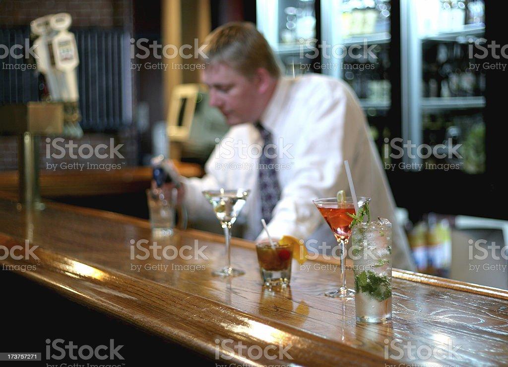 Bartender. royalty-free stock photo