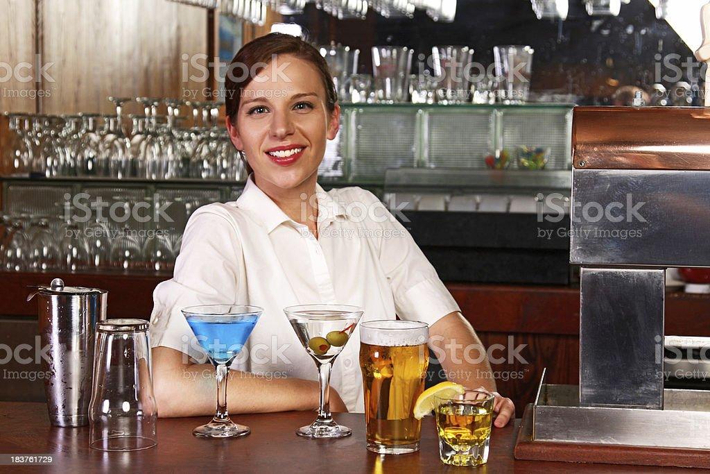 Bartender royalty-free stock photo