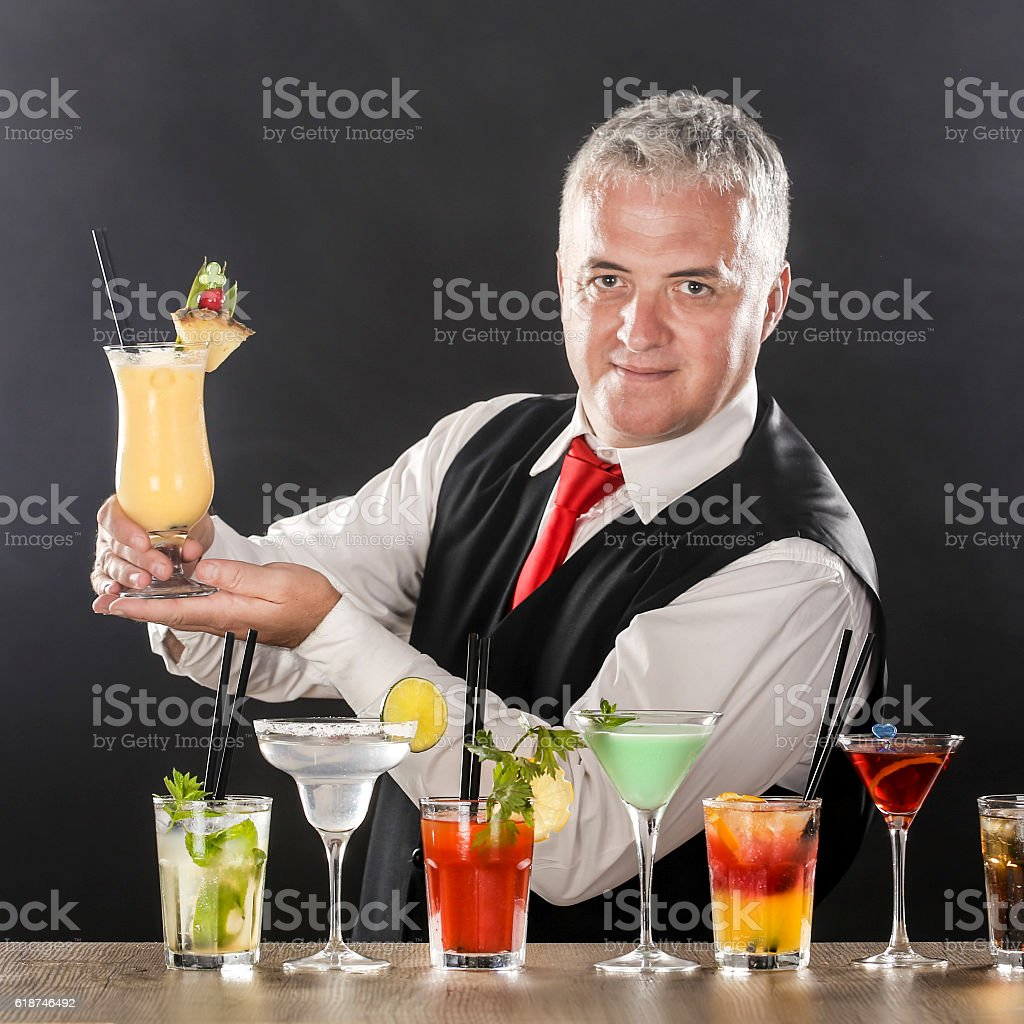 Bartender stock photo