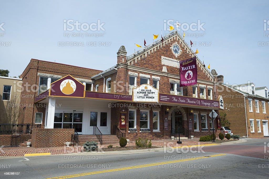 Barter Theater in Abingdon, Virginia stock photo