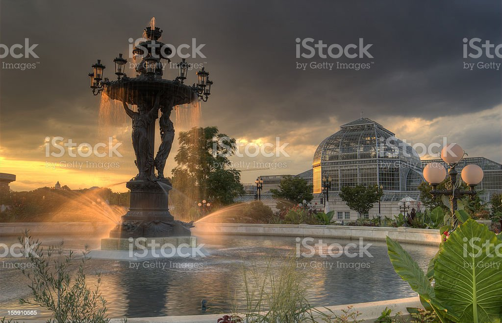 Bartholdi Fountain, Washington, D.C. stock photo