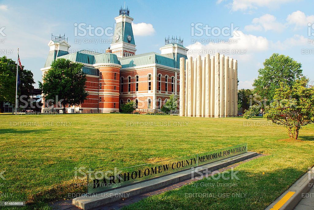 Bartholomew County Courthouse, Indiana stock photo