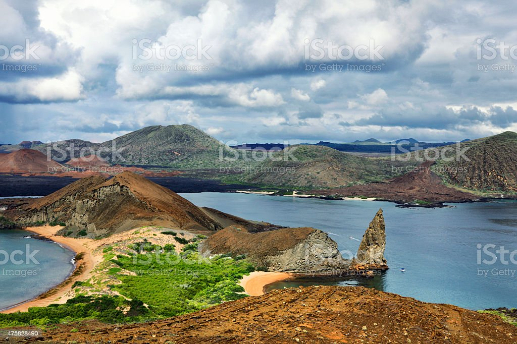 Bartolomé Island in the Galapagos stock photo