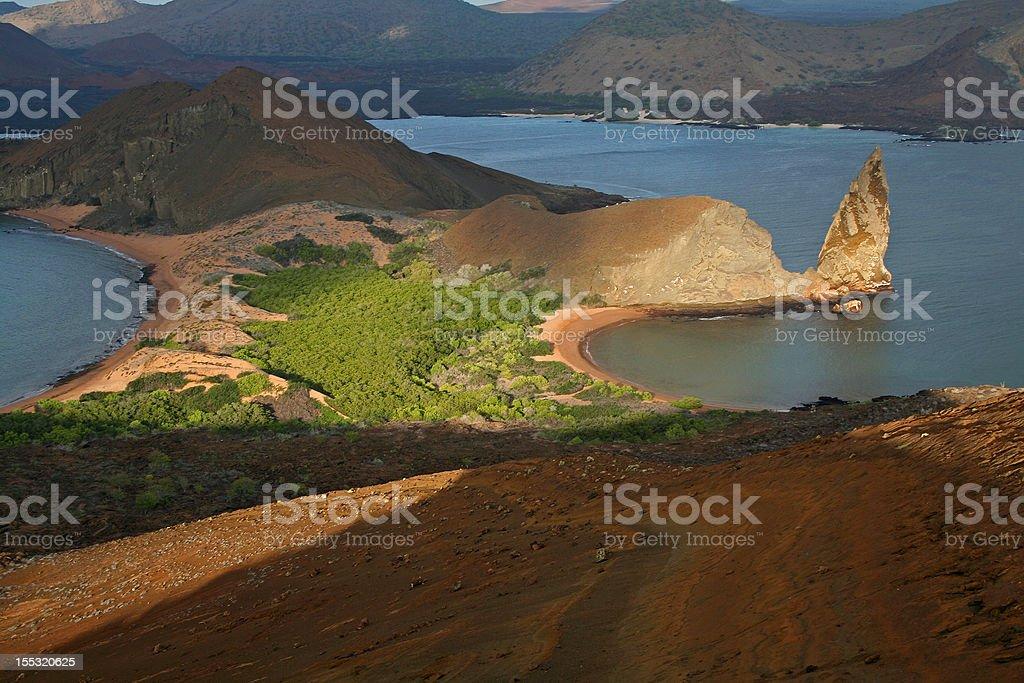 Bartolome Island and the Pinnacle, Galapagos stock photo