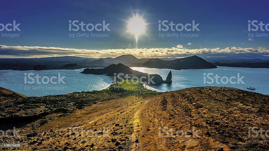 Bartolome Island, Galapagos stock photo