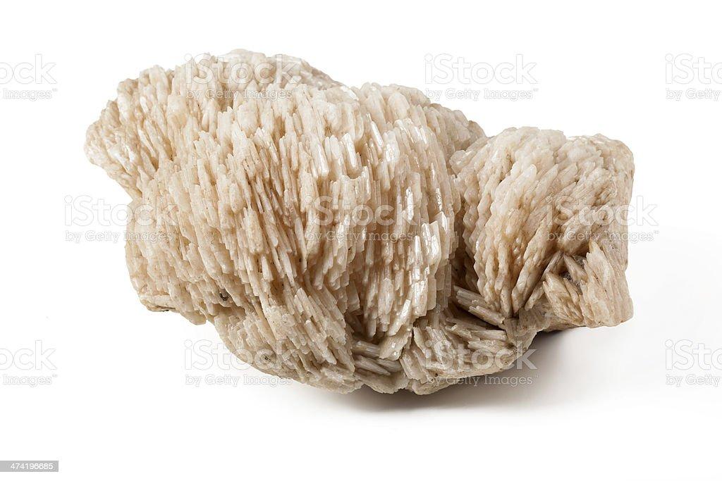 Baryte mineral stone stock photo