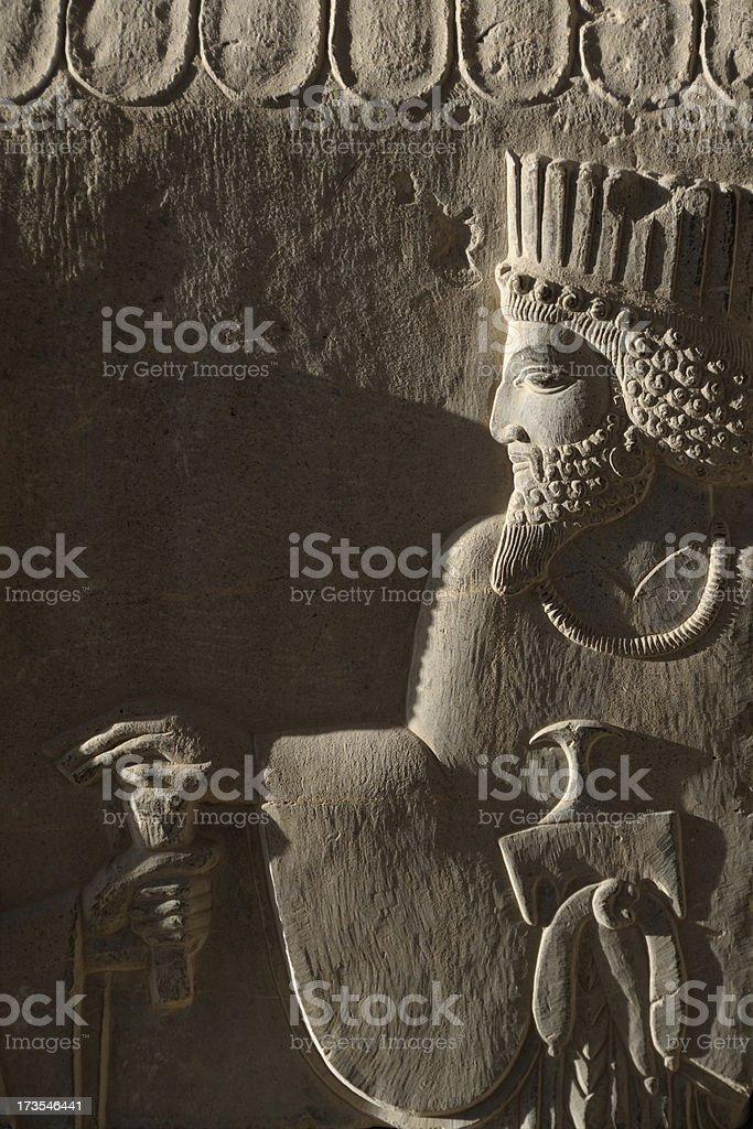 Bas Relief in Persepolis, Iran stock photo
