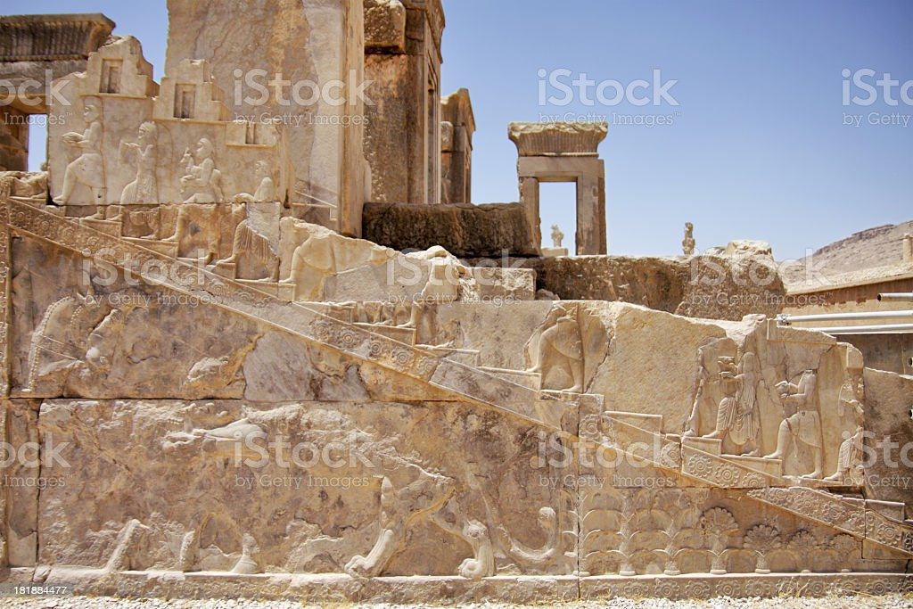 Bas relief in Persepolis royalty-free stock photo