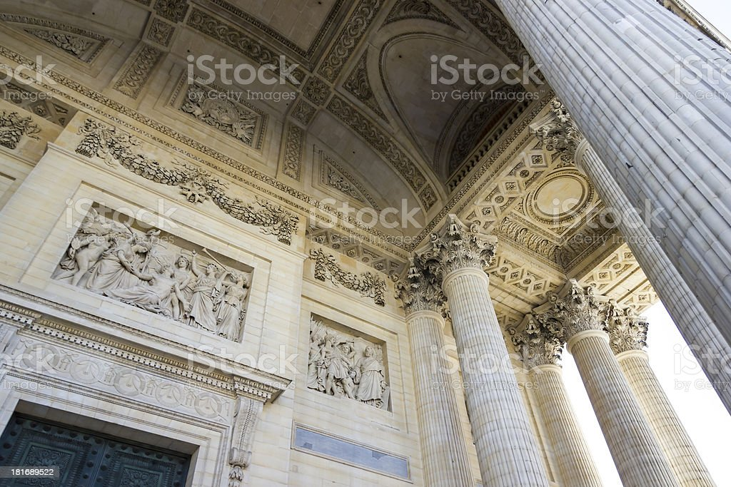 bas relief, Pantheon, Paris, France royalty-free stock photo