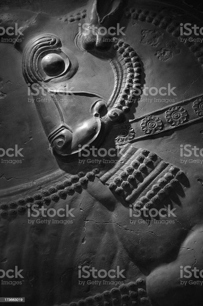 Bas Reliefs of Persepolis, Iran stock photo