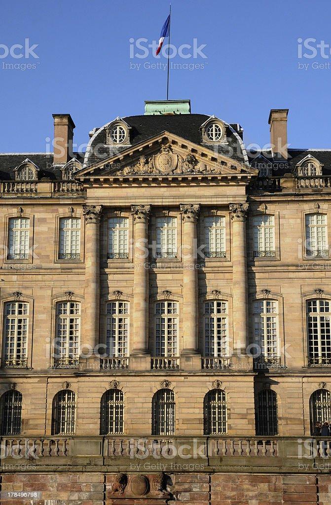 Bas Rhin, Le Palais Rohan in Strasbourg stock photo