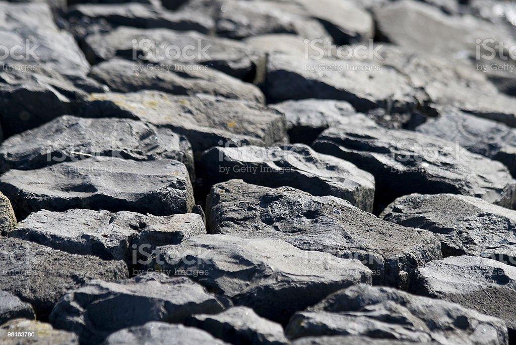 basalt blocks stock photo