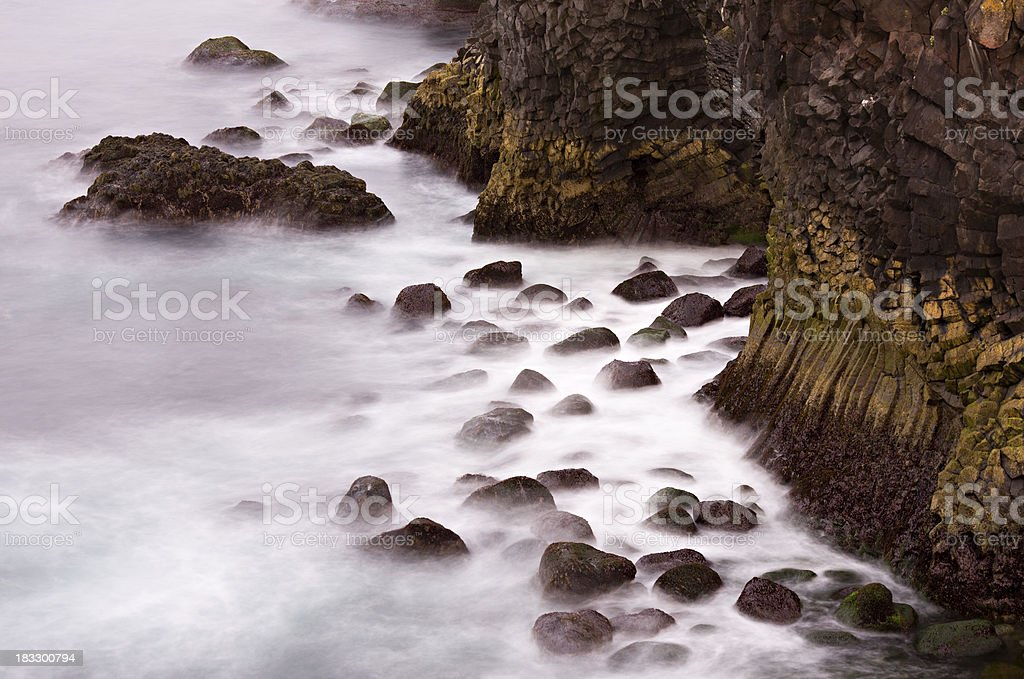 Basalt By The Sea royalty-free stock photo