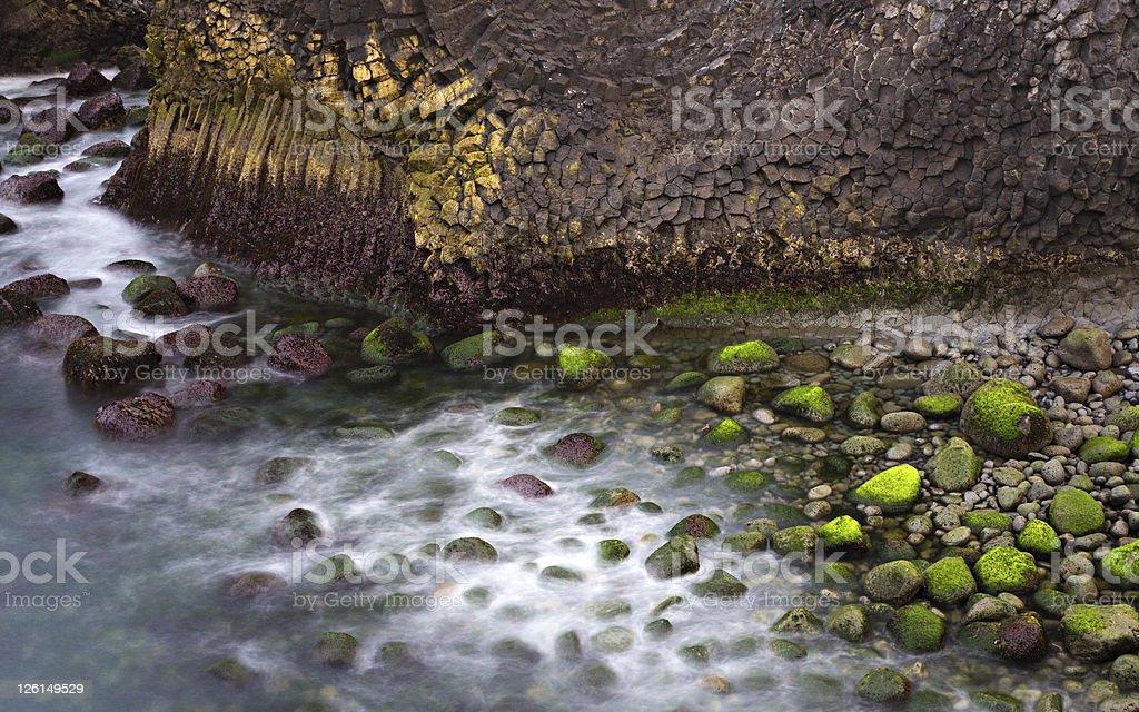 Basalt Coastline Long Exposure royalty-free stock photo