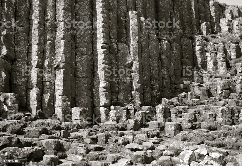 Basalt Columns at Giant's Causeway stock photo