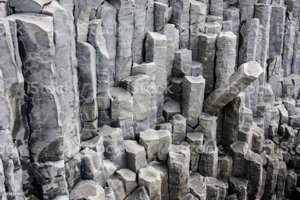 Basalt Columns, Iceland stock photo