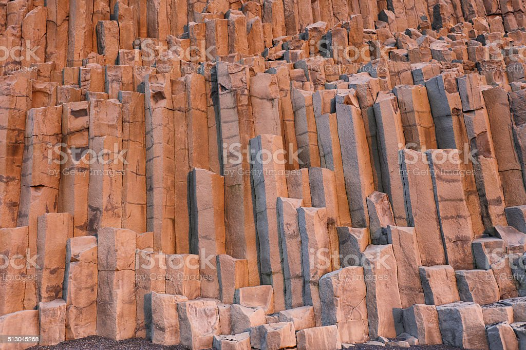 Basalt Columns in Vik Iceland stock photo