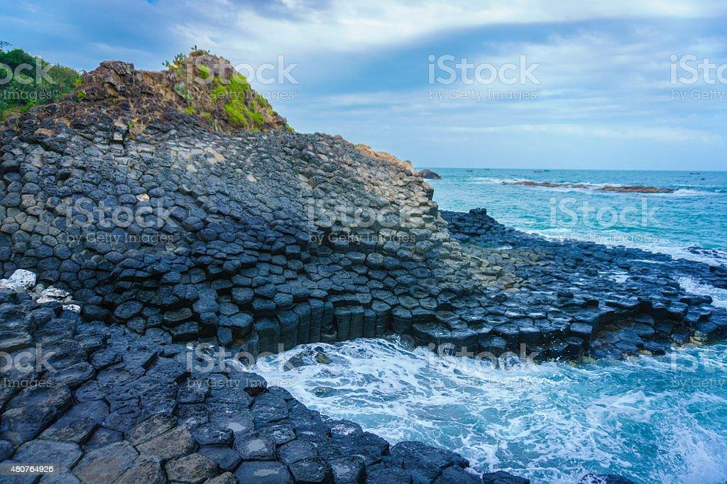 Basalt columns of Giant's causeway stock photo