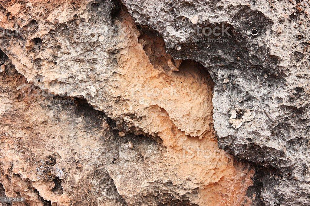 Basalt Extrusive Igneous Volcanic Rock stock photo