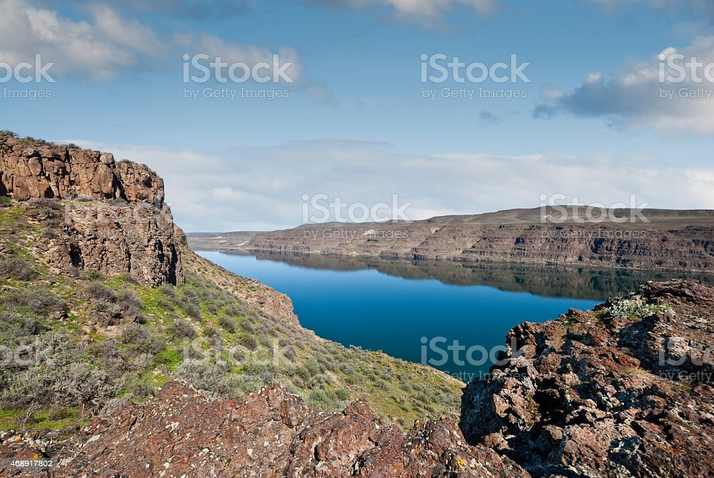Basalt Formations Above the Columbia River stock photo