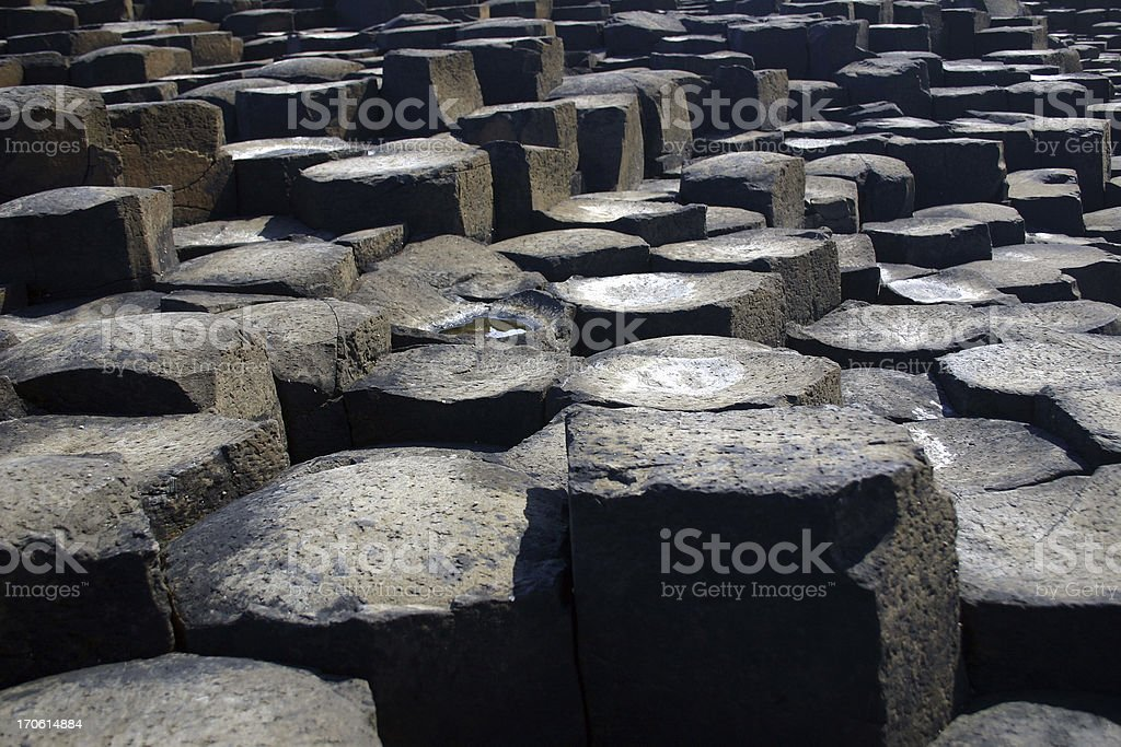 basalt lava columns, Giants causeway, Ireland stock photo