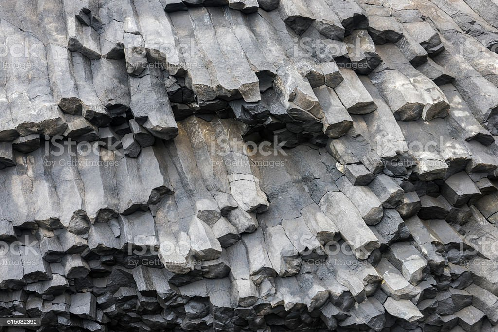 Basalt Rocks Iceland stock photo