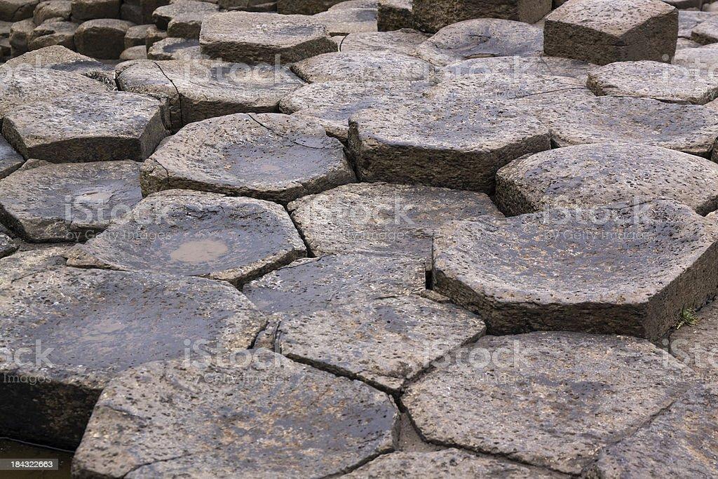 Basalt Stone stock photo