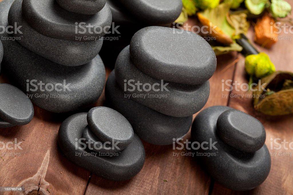 Basalt stones stock photo