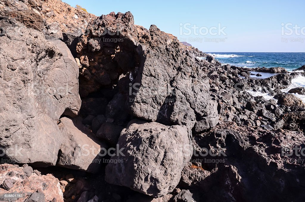 Basaltic Lava Formation stock photo