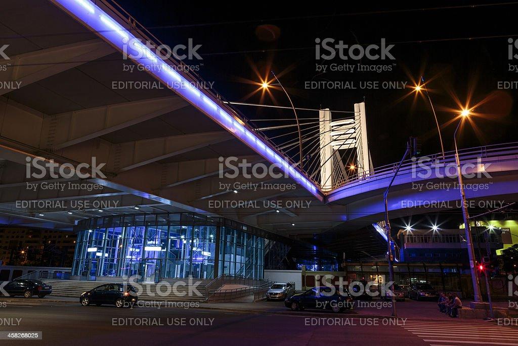 Basarab Bridge by night royalty-free stock photo