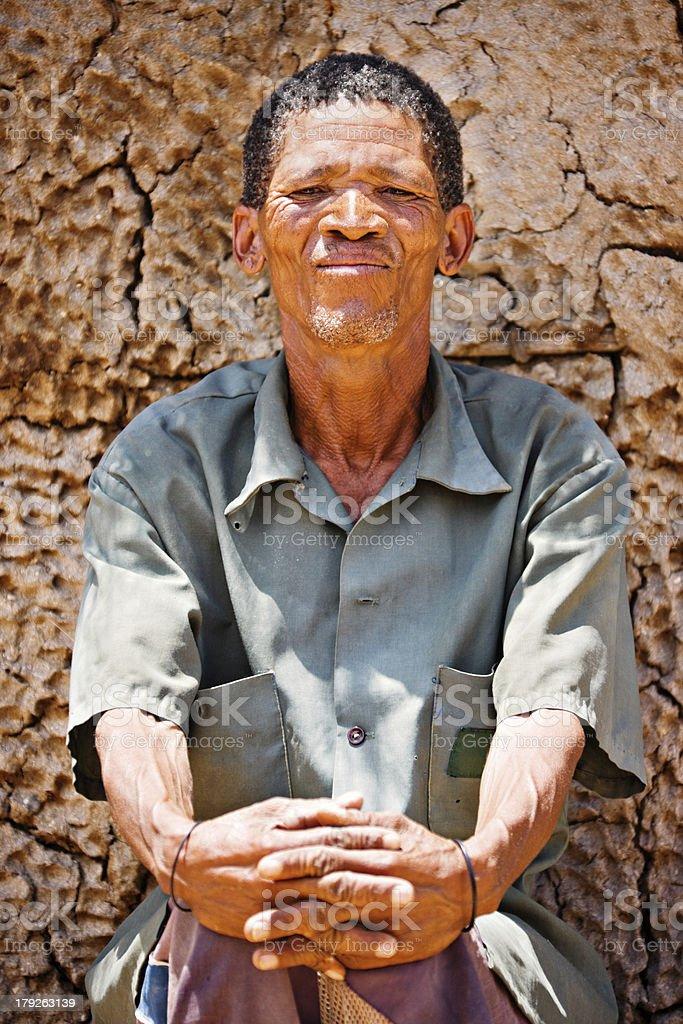 basarwa man royalty-free stock photo