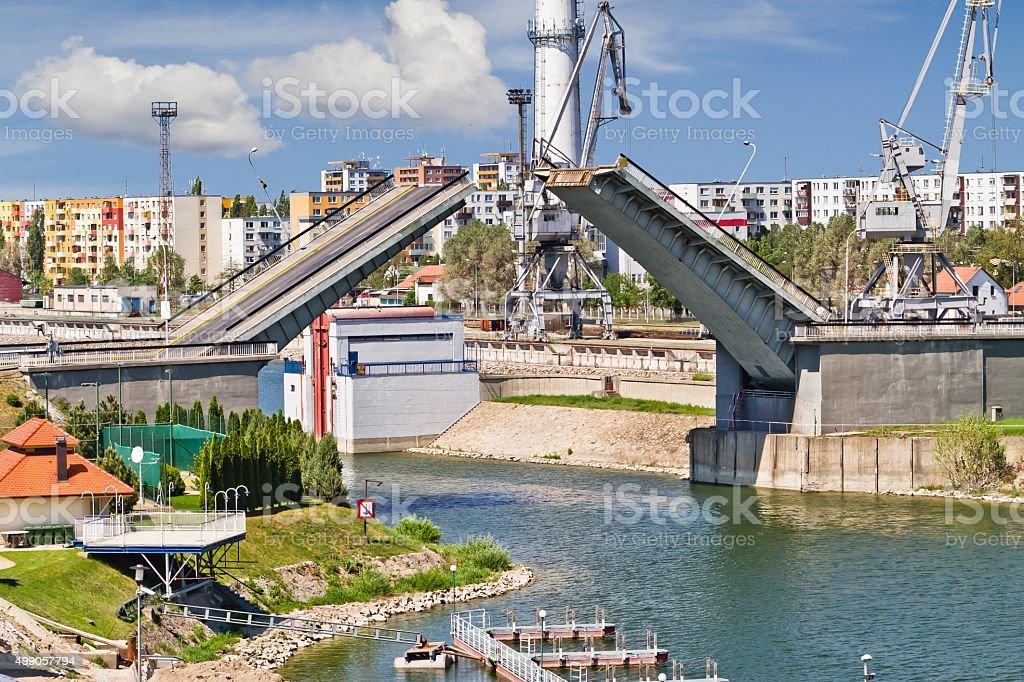 Bascule bridge . stock photo