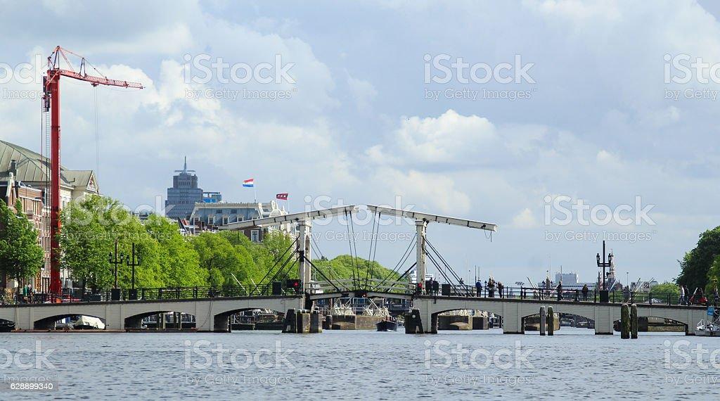 bascule bridge stock photo