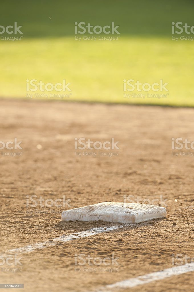 Base and outfield stock photo