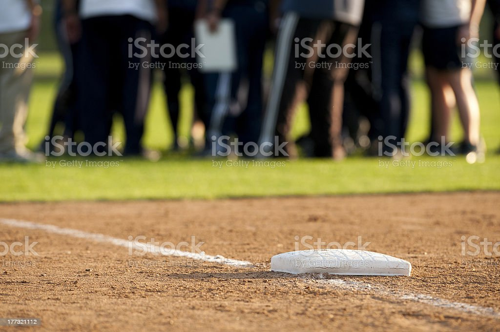 Base and players royalty-free stock photo
