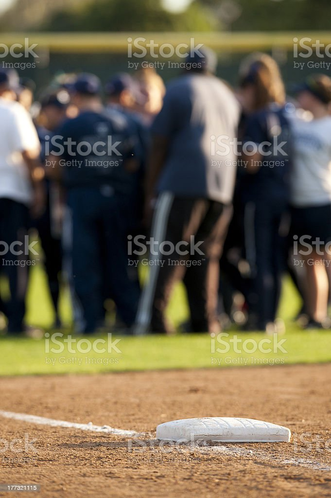 Base and players stock photo