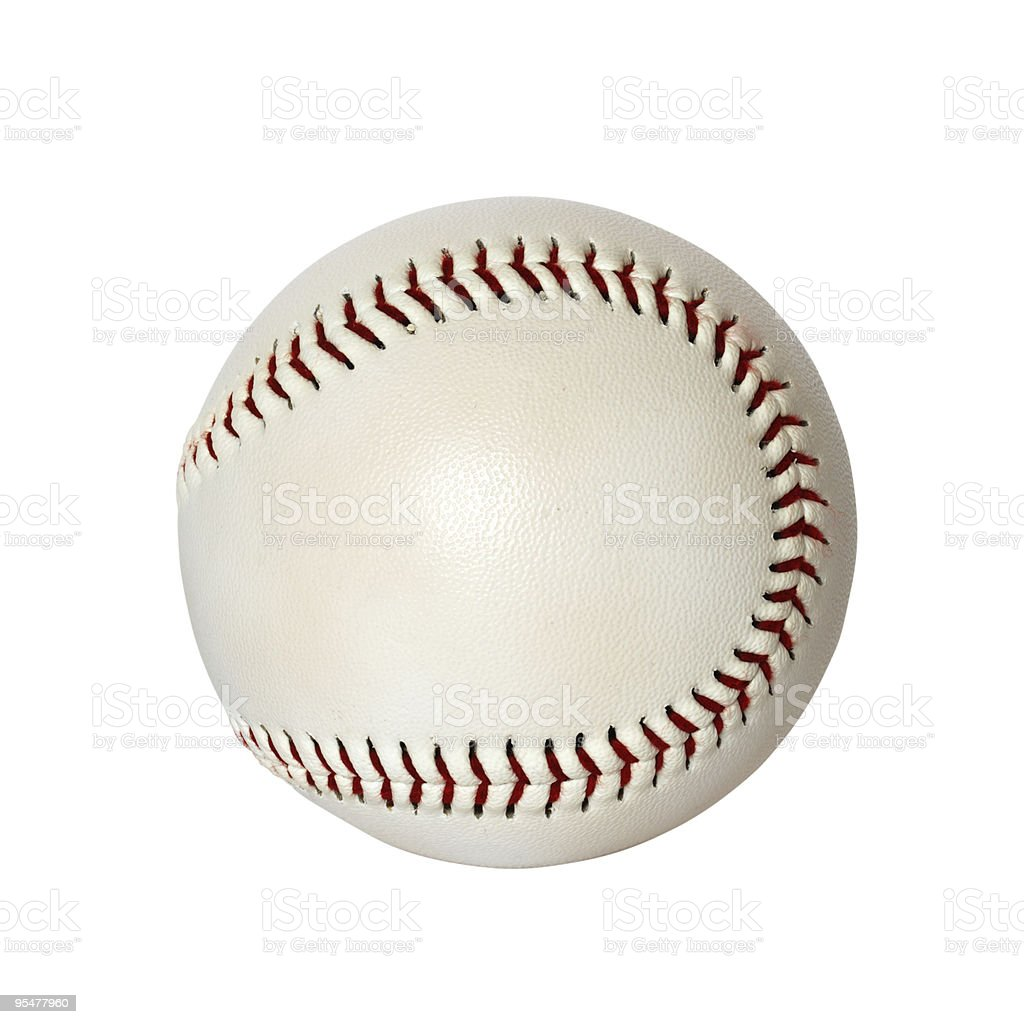 Base ball isolated on white background stock photo