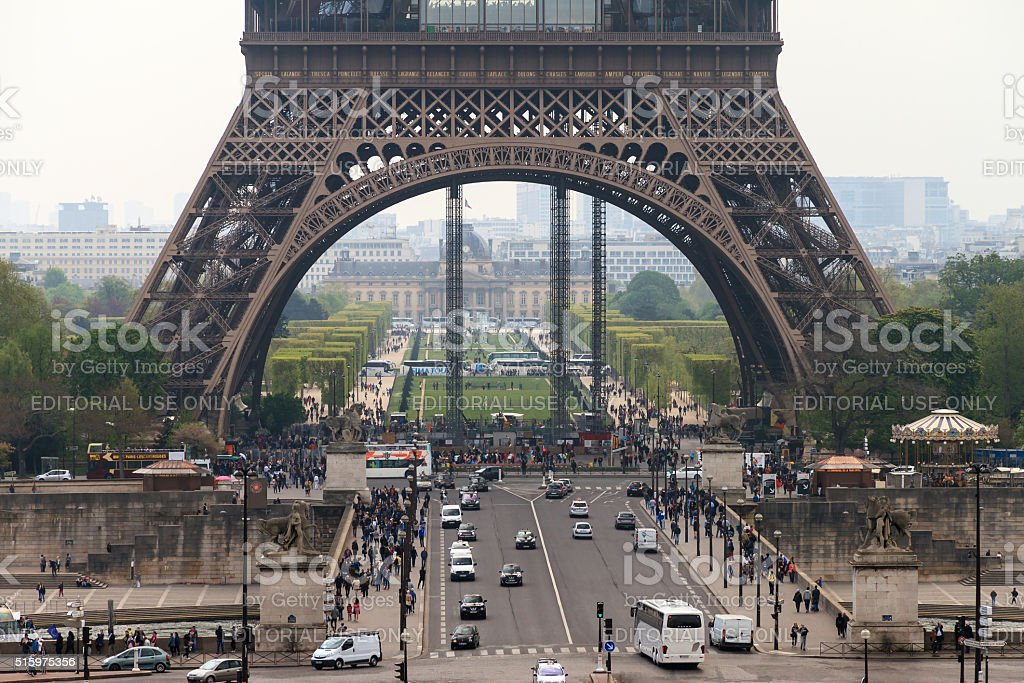Base Eiffel stock photo