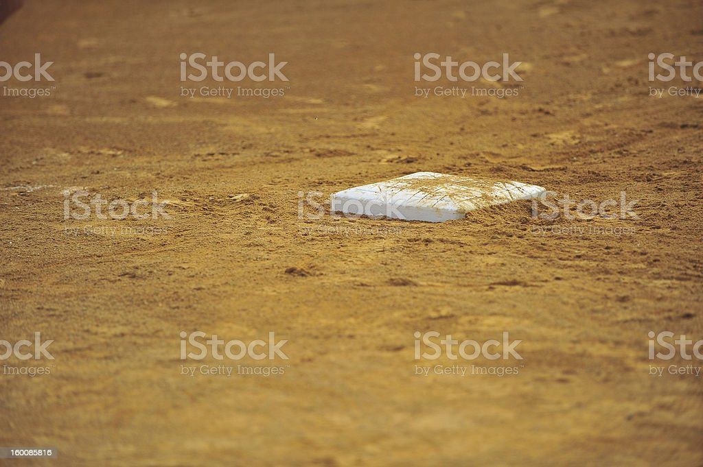 Base in dirt stock photo